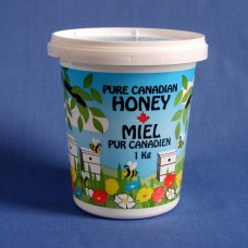 750ml / 1kg Plastic Pure Canadian Honey Tub
