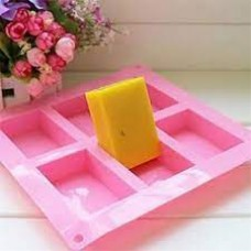 6-Cavity Plain Rectangle Silicone Wax Mold
