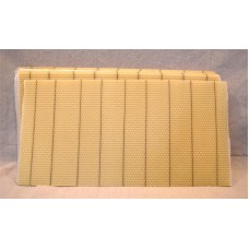 "Deep Beeswax Foundation 8 1/2"" Wired No Hooks"